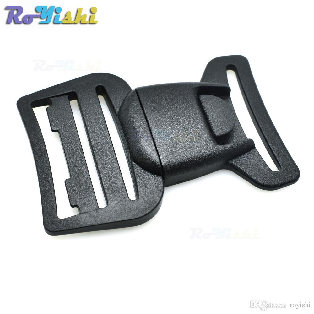 """10 قطعة / الوحدة 1-1 / 2 """"(40 ملليمتر) حزام البلاستيك مركز الإصدار بوكلي ل حقائب التخييم المشي"""