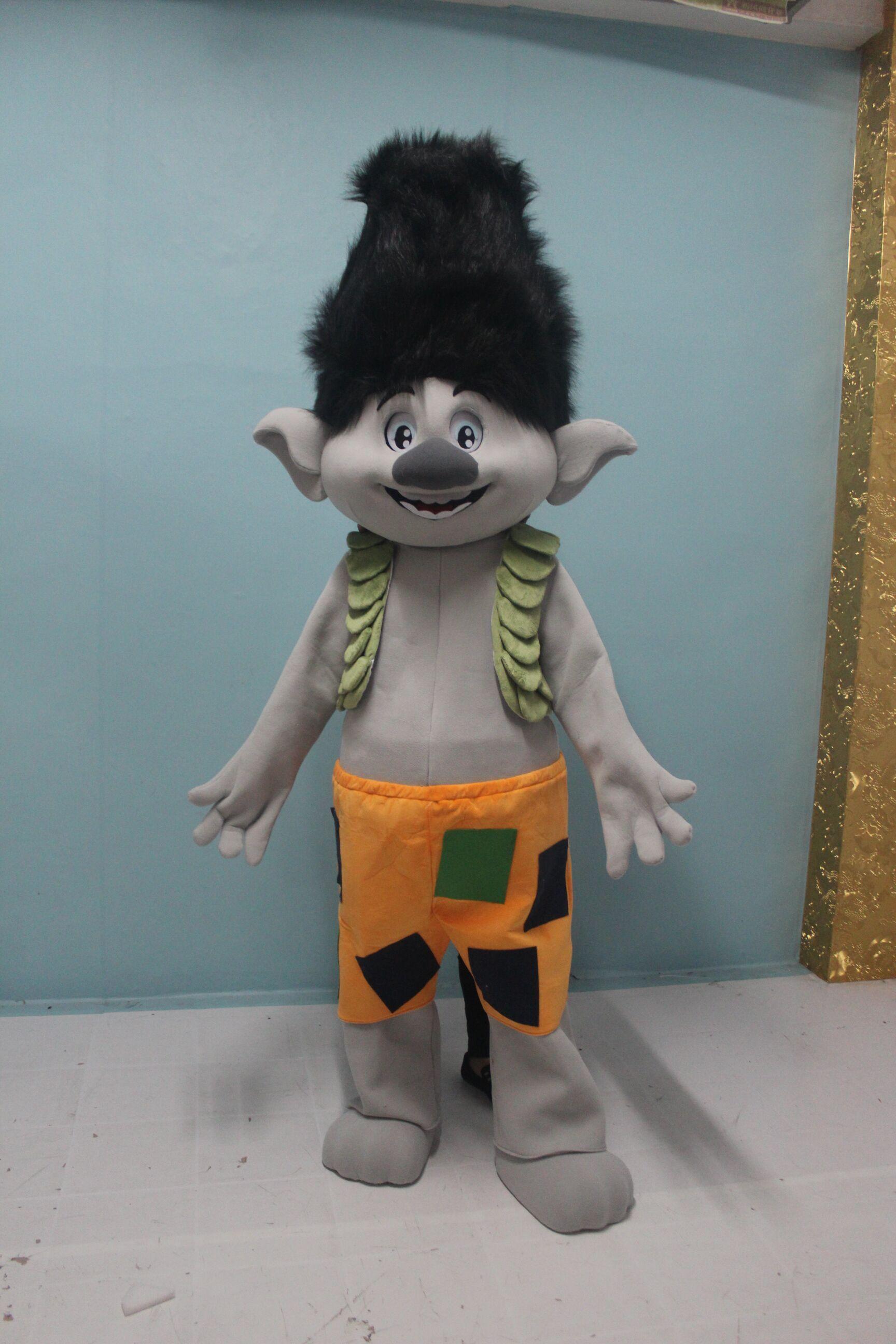 Nouvelle Mascotte Costume Trolls Parade Mascot Parade De Qualité Anniversaires Clowns Troll Fête Robes