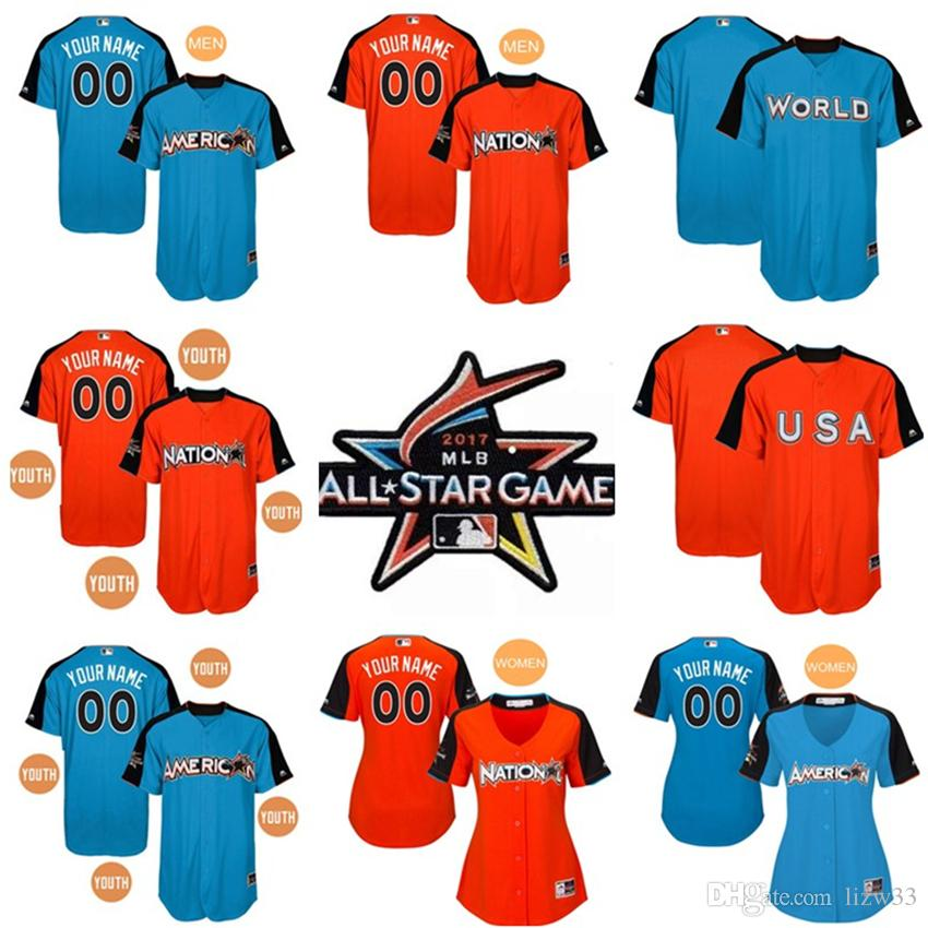 9d3b70773 MLB All-Star Game Authentic On-Field 2017 MenWomenYouth Custom Name Womens American  League ...