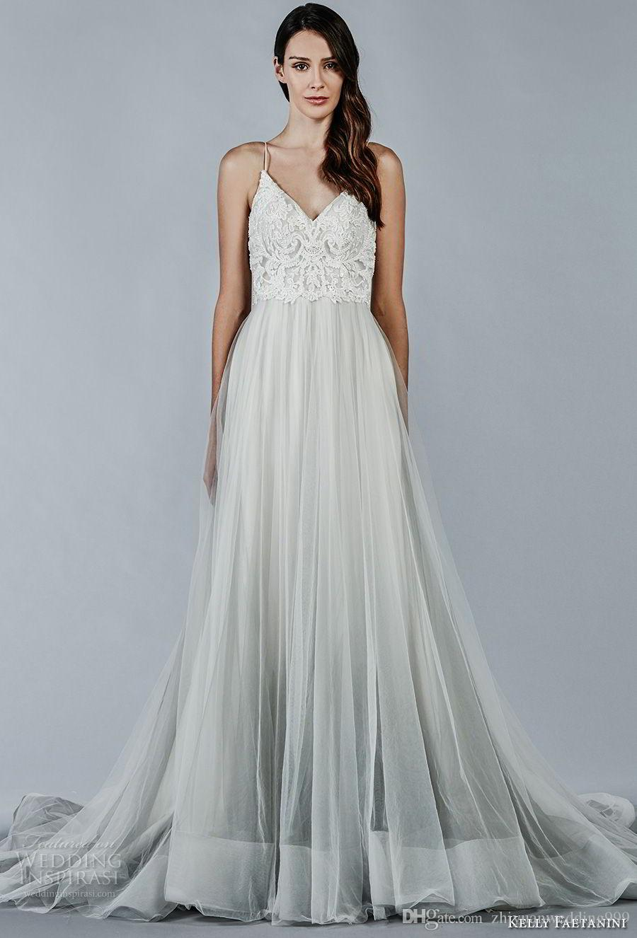 Discount Romantic Tulle Skirt Wedding Dresses 2018 Kelly Faetanini ...