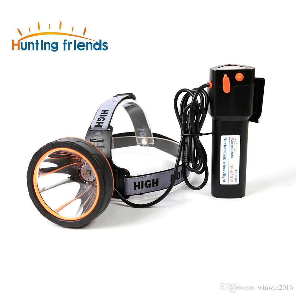 Amis de chasse puissant phare super lumineux lampe frontale phare rechargeable étanche LED phare pour la pêche de chasse