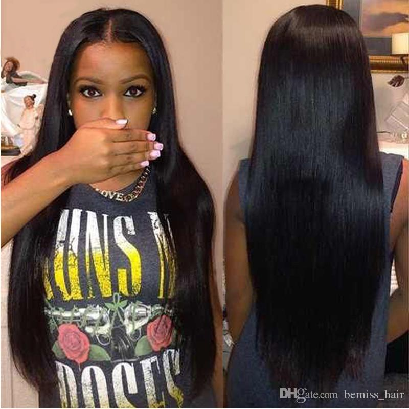 ГОРЯЧЕЕ !!! Перуанские Малайзийские Камбоджийские Монгольские Бразильские Индийские Пучки Волос Натуральный Черный Прямые Необработанные Человеческие Волосы Плетение Наращивание
