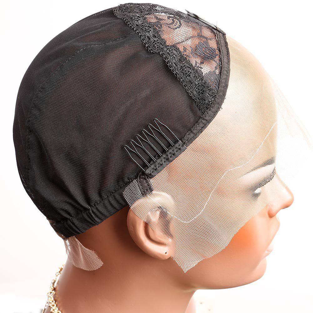 벨라 Hair® 레이스 프런트 가발 조절 스트랩과 빗 스위스 레이스 블랙 다크 브라운 바이올렛 S M의 L 전문 캡