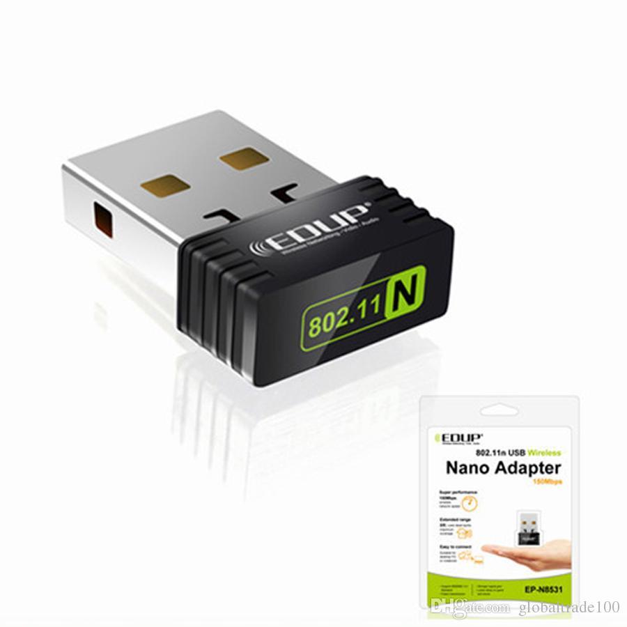 EDUP 150M Mini USB Wifi Sans fil Nano Adaptateur 150 Mbps IEEE 802.11n g LAN Carte réseau Ralink 5370 EP-N8531 Vente en gros