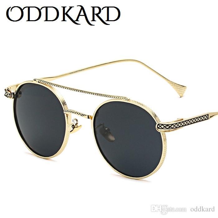 Oddkard الدخان الساخن خمر النظارات الشمسية للرجال والنساء الفاخرة مصمم جولة موضة نظارات الشمس oculos دي سول uv400