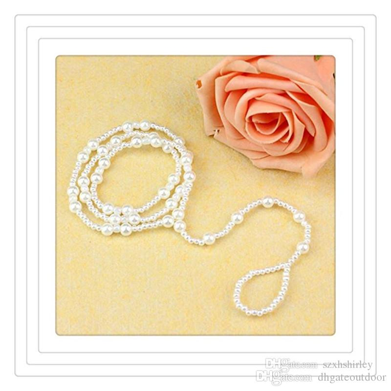 Fashion Toe Rings Women Beach Jewelry Imitation Pearl Barefoot Sandal Foot Jewelry Anklet Chains Crystal Foot Jewelry Free Shipping