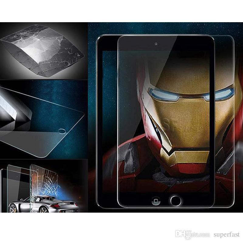 강화 유리 아이 패드 미니 3 4 프리미엄 강화 유리 화면 보호기 삼성 태블릿 T310 T350 T550 거품 무료 패키지