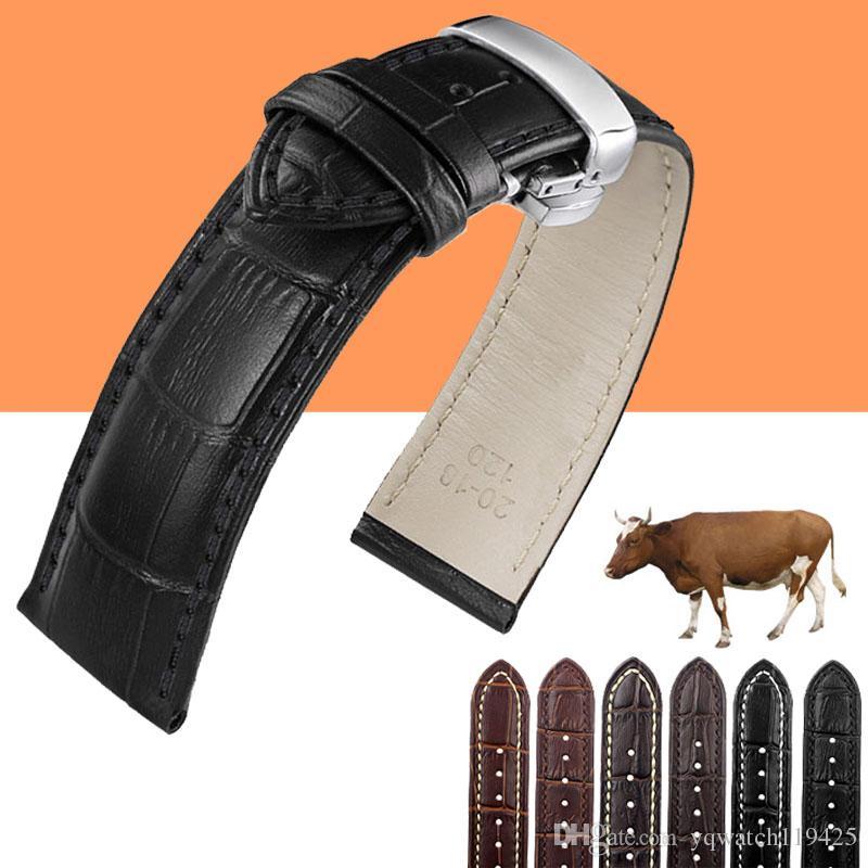 Bracelet en cuir véritable pour bracelet de montre pour IWC / Tissot 12mm 13mm 14mm 15mm 16mm 18mm 19mm 20mm 22mm 24mm