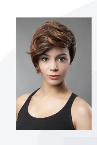 XT742 Parrucche sintetiche marroni corte per donne bianche nere Parrucca bionda Parrucca ad alta temperatura Radici scure Capelli ricci Peluca Corta Rubias Perruque