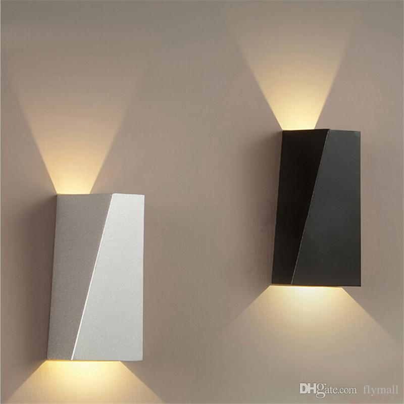 huge discount 9261b 7fa12 2019 10W LED Modern Light Up Down Wall Lamp Square Spot Light Sconce  Lighting Home Indoor Wall Lights Outdoor Waterproof Wall Lamps Black/White  From ...