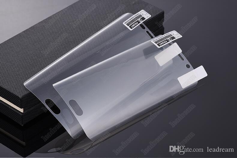 Protecteur d'écran doux de protection d'écran de surface incurvée 3D pour le Galaxy S7 S6 Edge G9250 non trempé, en verre trempé, sans emballage