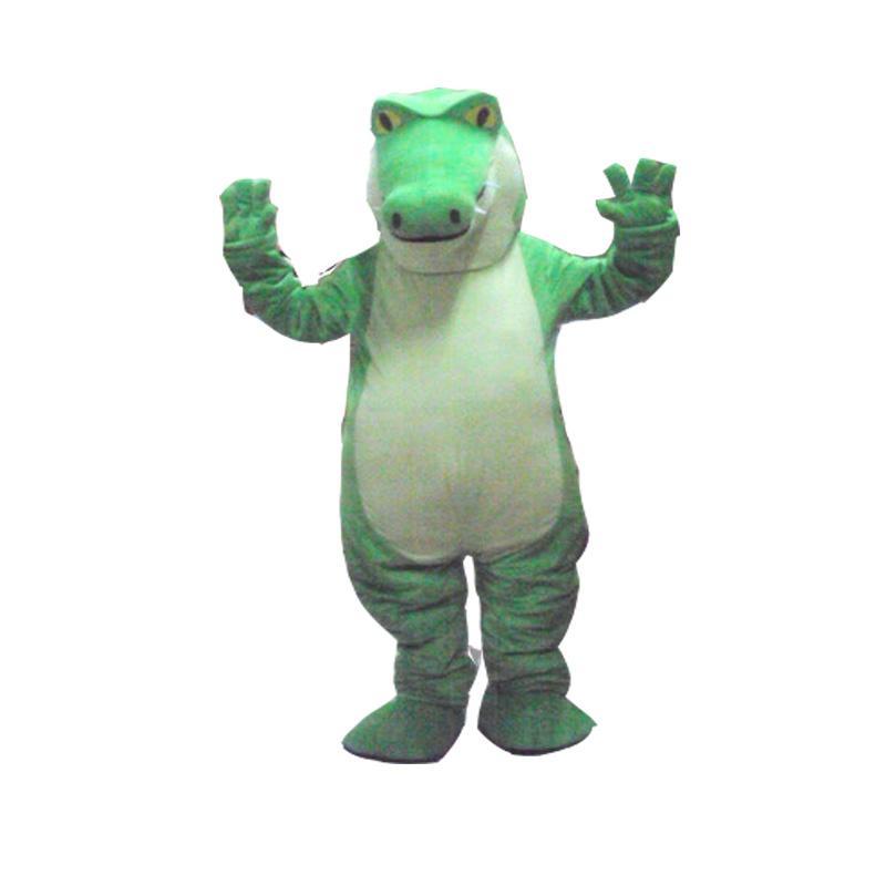 Hot crocodile Mascot Costume Fancy Dress Adult Size Free Shipping 77