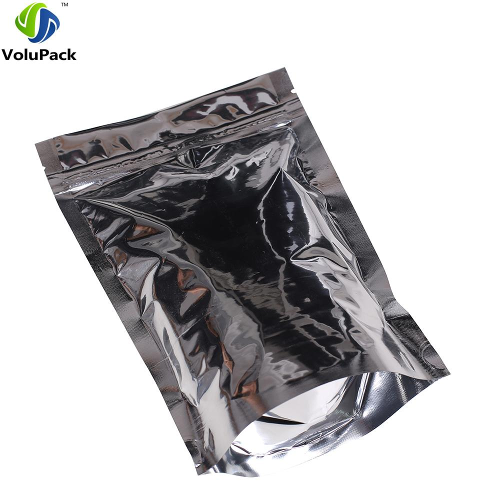 16x24cm (6.25x9.5in) Brand new Three side seal pouch food coffee storage recyclable stand up ziplock pouch alunminum foil