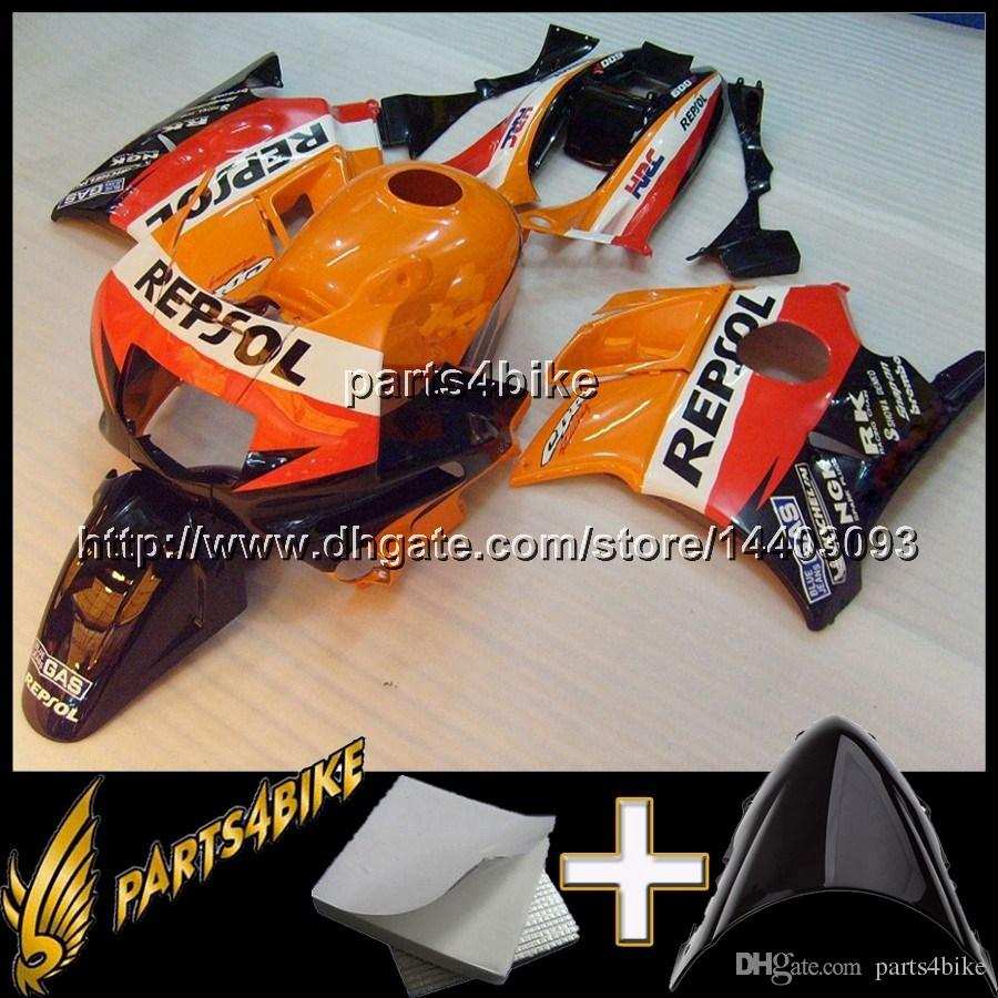23colors+8Gifts REPSOL motorcycle cowl for HONDA CBR600F2 1991-1994 CBR600 91 92 93 94 ABS Plastic Fairing