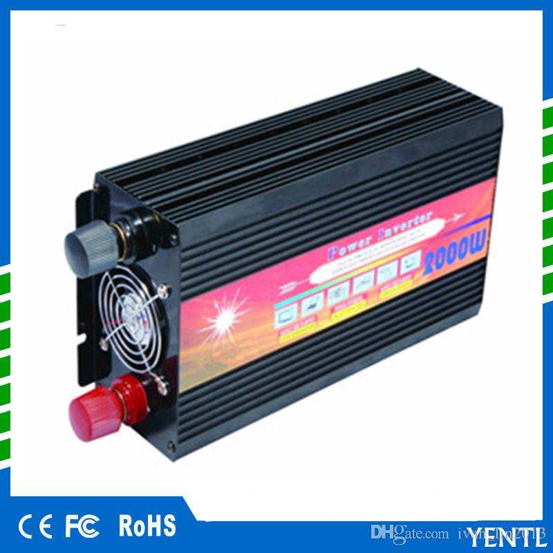 Sine Wave for Car Power Supply Auto Multifunction Use DC 12V//24V to AC 220V Pure Sine Wave Power Inverter 2000W Car Power Inverter