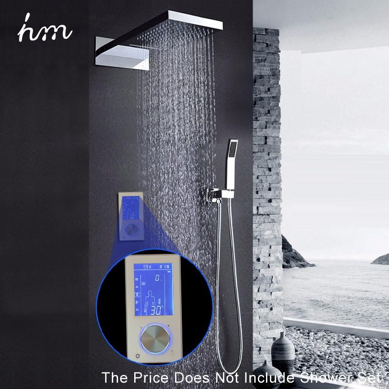 hm Digital Shower Controller,LED Touch 3 Way Thermostat Shower Controller,Display Control System,LCD Smart Temperature Mixer (2)