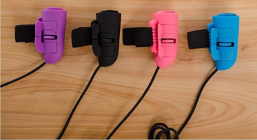 200pcs 미니 USB 유선 3D 옵티컬 핸드 헬드 손가락 반지 마우스 마우스 노트북 PC 수첩 0001
