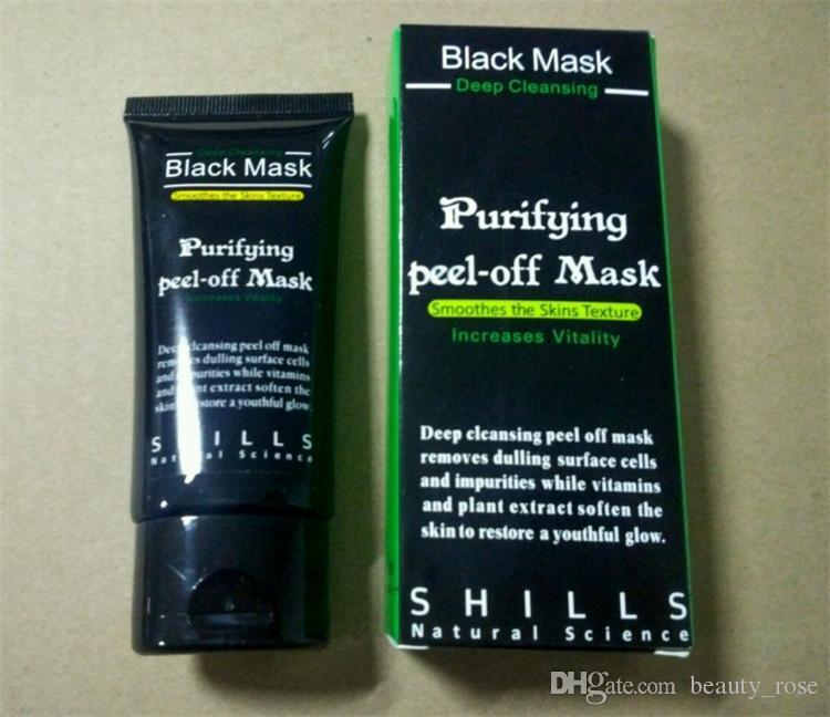 Maschera nera Aspirazione punti neri rimuove la maschera facciale al collagene SHILLS Pulizia profonda purificante staccata Maschera viso nero Maschere buccia DHL gratis
