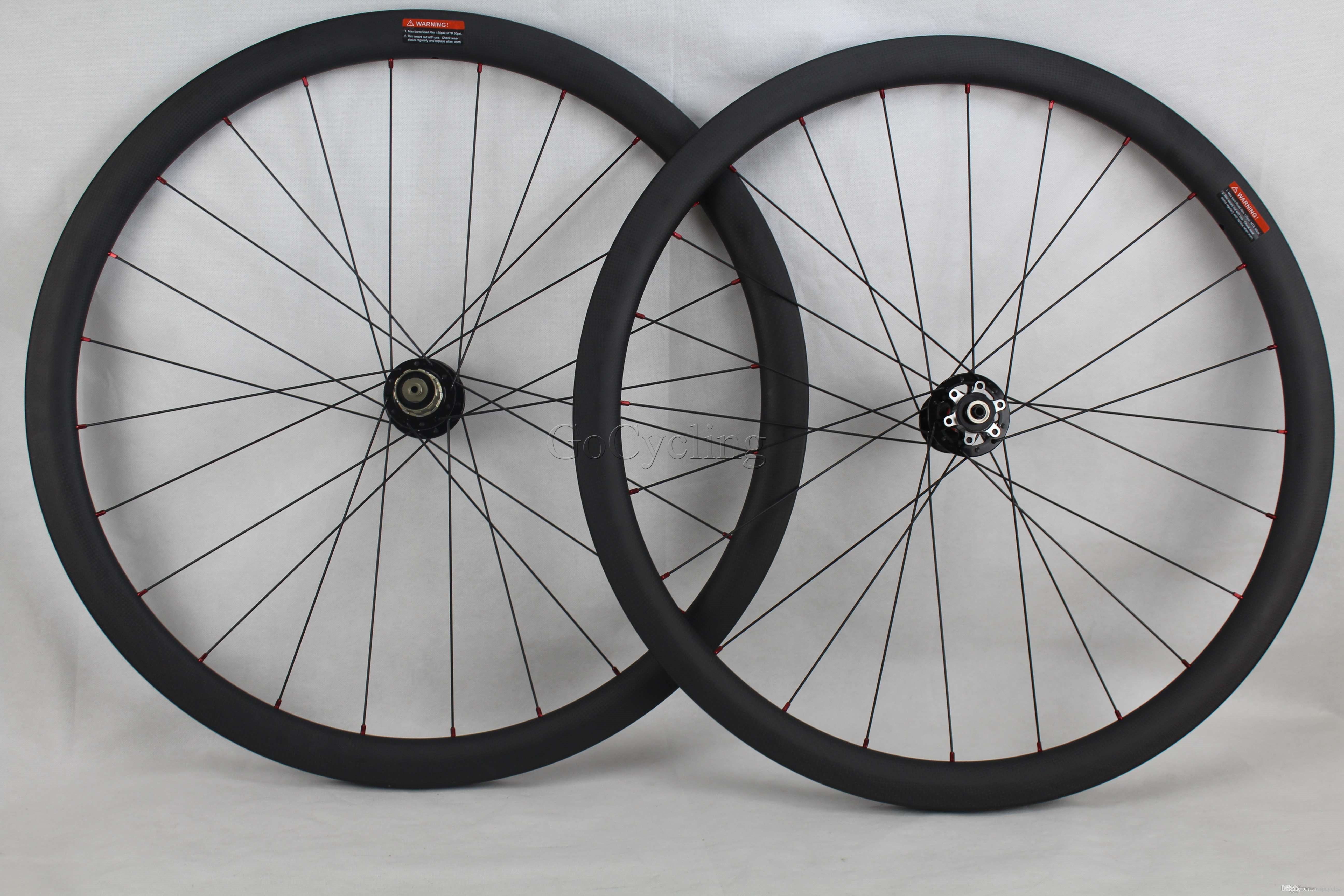 Disc brake carbon road wheels 38mm 700C clincher tubular bicycle carbon wheelset rim width 25mm wheels wheel with novatec hubs