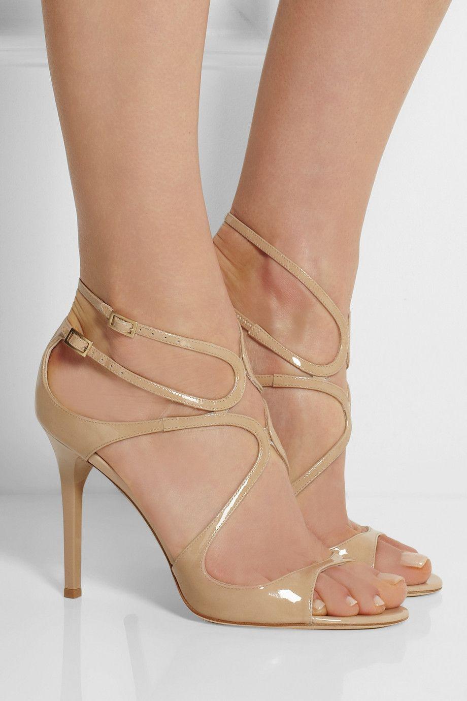 Sandalias de verano Gladiator Women Shoes, Lang Tacones altos Sandalias Bombas de mujer Lanza Sandalias Sandalias Partido, Boda, Caja de novia Original, EU35-43