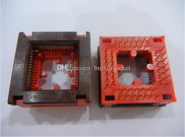 WELLS-CTI ic test soketi 647C1442112 PLCC44PIN soket içinde 1.27mm pitch yanık