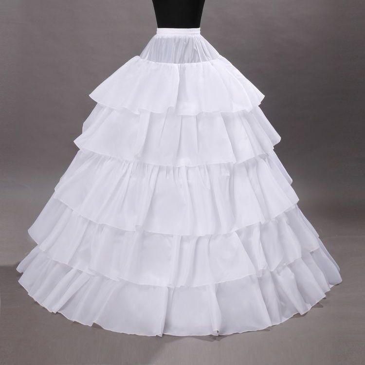 5 الأطواق ثوب نسائي القرينول الكرة ثوب الزفاف حفلة موسيقية فساتين التنورة الداخلية تحتية زلات الزفاف Accessories110-120cm قطر