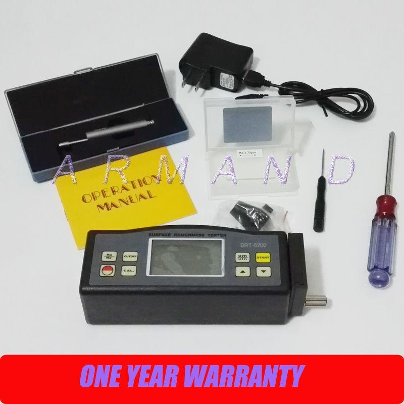 Portable Surface Roughness Tester SRT-6200 Ra (0.05~10.00 um) Rz (0.020~100.0 um) Roughness Meter