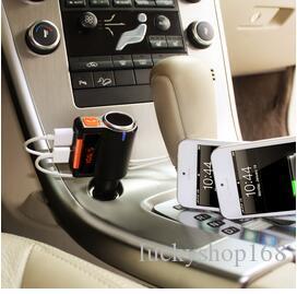 Caricabatteria da auto vivavoce per auto trasmettitore FM per auto Bluetooth per adattatore universale per accendisigari da PC
