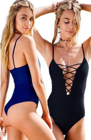 Nueva llegada Trajes de neopreno One Pice traje de baño de las mujeres 2017 Traje de baño ropa de playa retro traje de baño de la vendimia