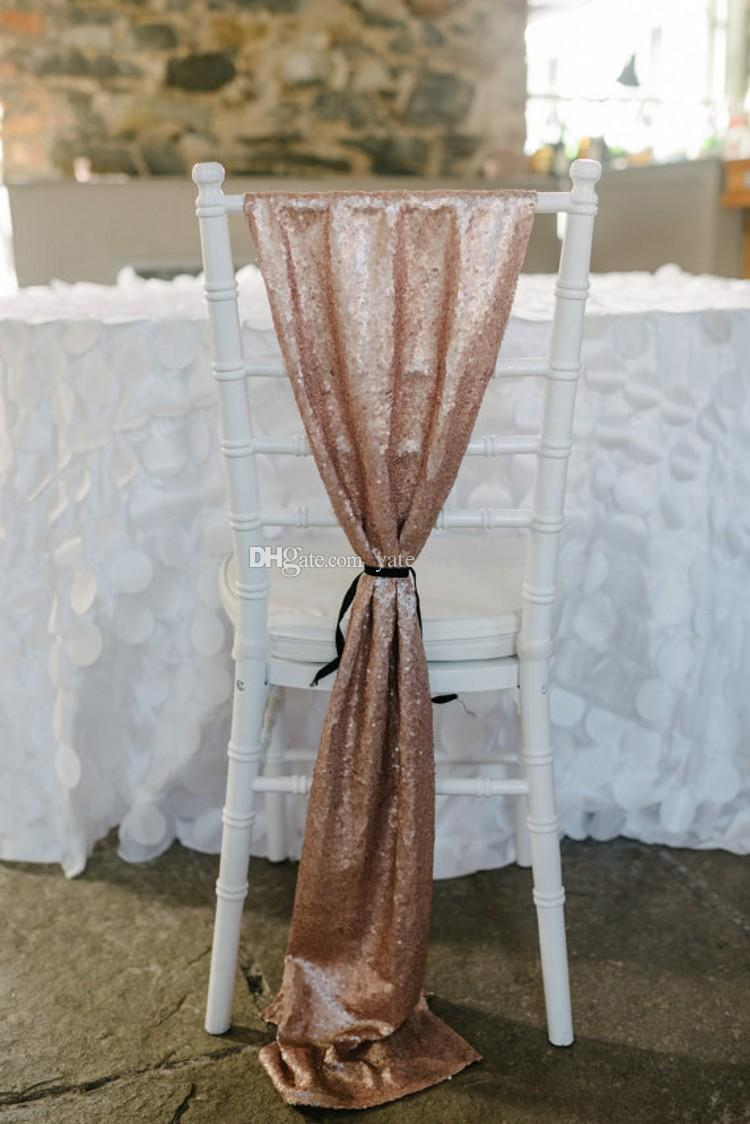 Superb 2019 Luxury Rose Gold Sequin Chair Sashes Custom Made Wedding Party Decor Dazzling Chair Bows Chair Covers Size 50 200 Cm From Yate Wedding 9 82 Alphanode Cool Chair Designs And Ideas Alphanodeonline