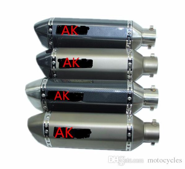شعبي Akrapovic 38-51mm العالمي للدراجات النارية سكوتر نظام العادم الخمار الأنابيب لGY6 CBR CBR125 CBR250 CB400 CB600 YZF FZ400 Z750