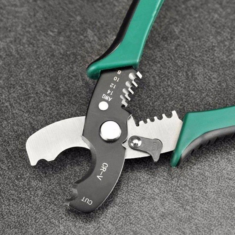 """Multi Tool 8 """"Wire Stripper Cable Cutting Scissor Stripping Pinze Cutter 1.6-4.0mm Utensili a mano Ferramentas Herramientas"""