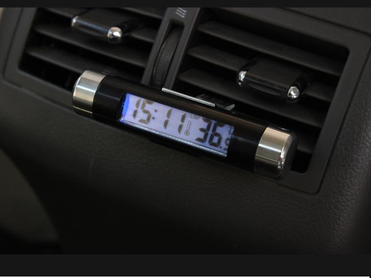 Voertuig gemonteerde thermometer automobiel elektronische tafel transparante vloeibare kristal super quasi automobiel producten zuigbeker type voertuig