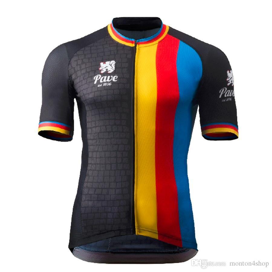 2019 Belgien Flandern Radtrikot Kurzarm Fahrradbekleidung Herren Radsportbekleidung ropa ciclismo maillot