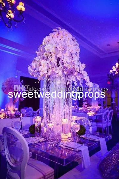 High Level Luxus Elegante Vase Hochzeit Mittelstücke, hohe Metall Vasen Hochzeit