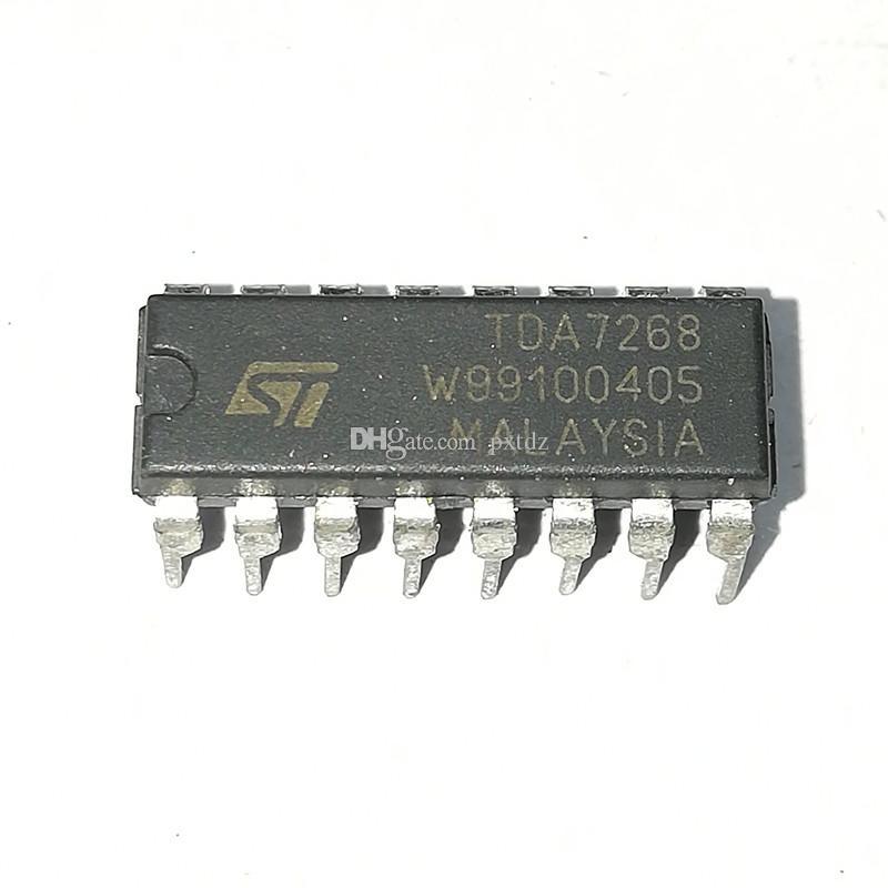 TDA7268 / PDIP16. Circuiti integrati per circuiti integrati Amplifie audio stereo da 2 x 2 W / chip in plastica a 16 pin in linea e microelettronica