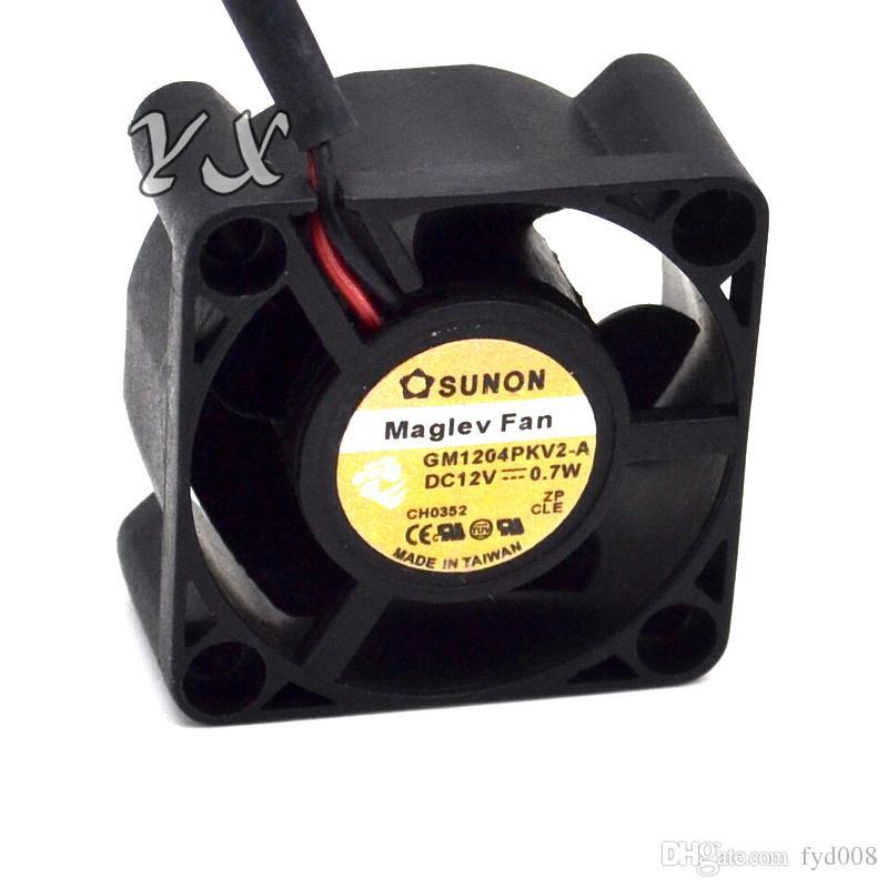 Original SUNON 4020 12V 0.7W GM1204PKV2-A ventilador de refrigeración ultra silencioso de 2 hilos