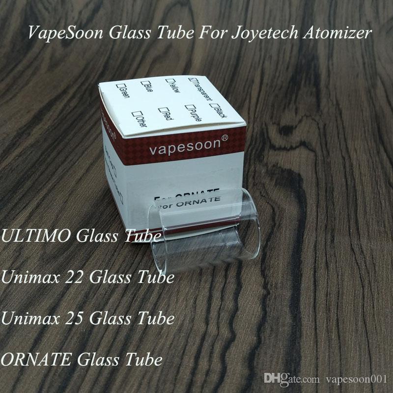 Joyetech ULTIMO 4ML 분무기 유리관 Unimax 22 Unimax 25 ORNATE 6ML 유리관 VapeSoon 교체 유리관 빠른 배송