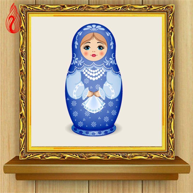 Promoção DIY 5D Completa Diamante Bordado bonecas Russas Rodada Pintura Diamante Cross Stitch Kits Diamante Mosaico Decoração de Casa