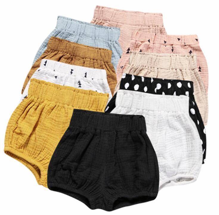Ins do bebê Shorts da criança PP Pants Meninos Casual Calças Triângulo Meninas Verão Bloomers infantil Bloomer Briefs Diaper incluir Cueca KKA2139