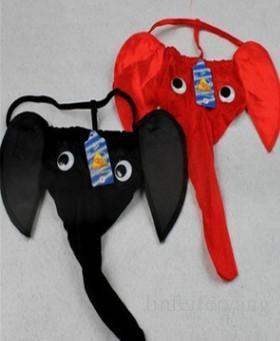 gros prix bas 2 pcs / lots Hommes Polyester fibre éléphant T sous-vêtements