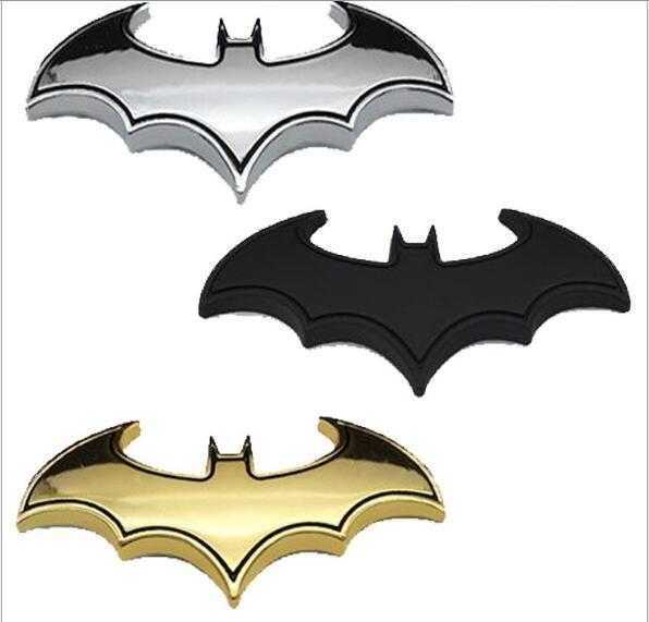 3D personality Silver Batman auto logo car sticker metal badge emblem tail decal
