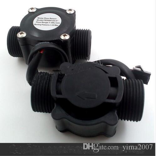 "Free ship Water Flow meter Hall flow Sensor Flowmeter pool float switch indicator Counter for water heater fuel gauge 1-60L/min G3/4"" DN20"