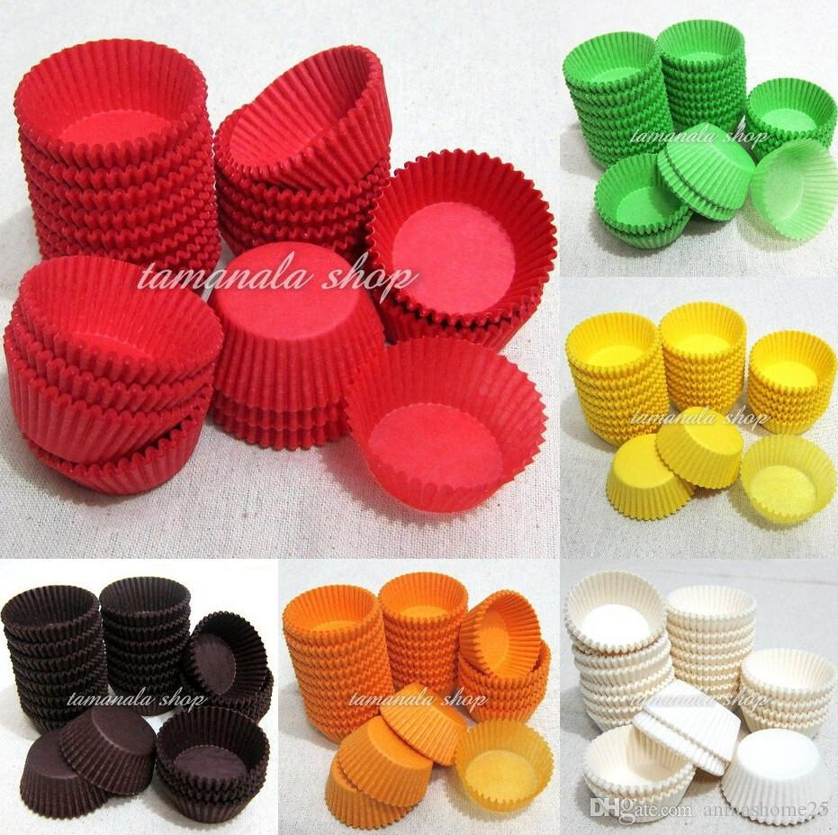 Hot Sale !!! 600pcs Muffin Cupcake Baking Cups Cases Paper Liners Cake 6 Colors 1.5 inch choose