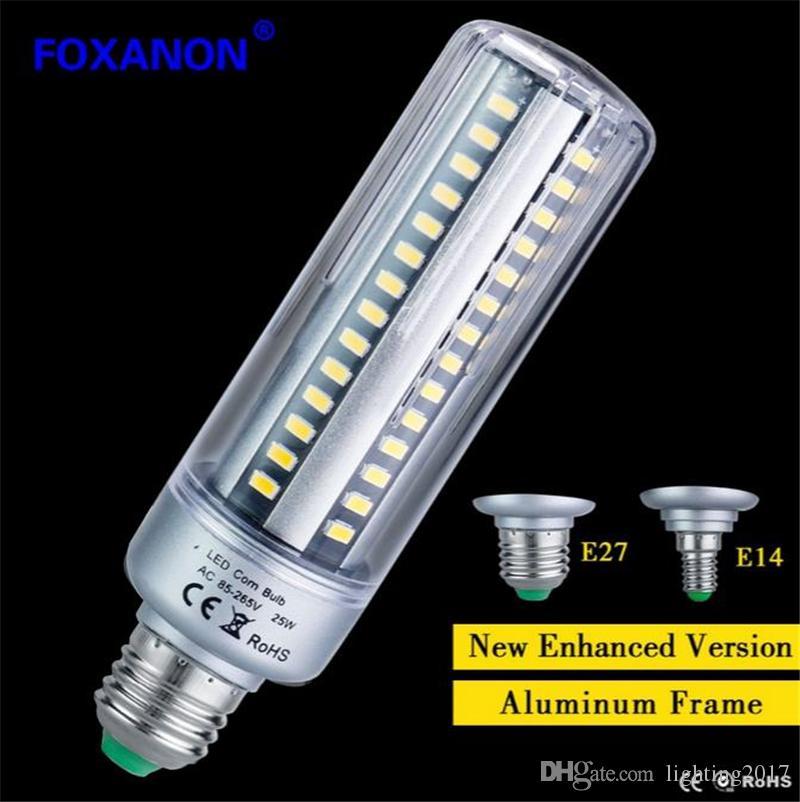 E27 E14 Bombillas LED 5W 7W 9W 15W 20W 25W 25W Lámpara LED Corn Bulb AC85-265V Aluminio Enfriamiento 5736 LED Spot Light