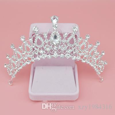 Economici Diademi di cristallo Corona di cristallo Accessori da sposa Barocche corone della regina Accessori per capelli di cristallo Jewelry di ragazze Corona di compleanno di ragazze