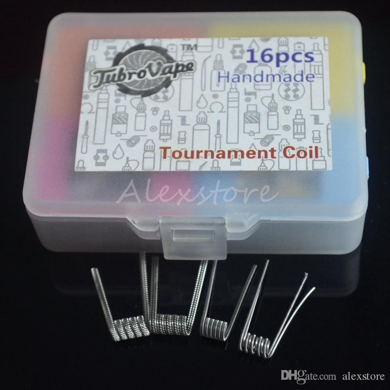 Tournament Coil Box Kit 4 in 1 Heating Premade Wire Fortress Violin Centipede Crack Coil Cotton Prebuilt Wires 16pcs/box for Vape RDA