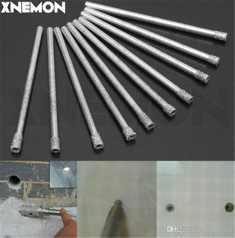 """XNEMON 10pcs 5mm 3/16"""" Diamond Coated Core Drill Bit Carborundum Use in Drill Hole on Glass, Marble, Tile or Granite"""