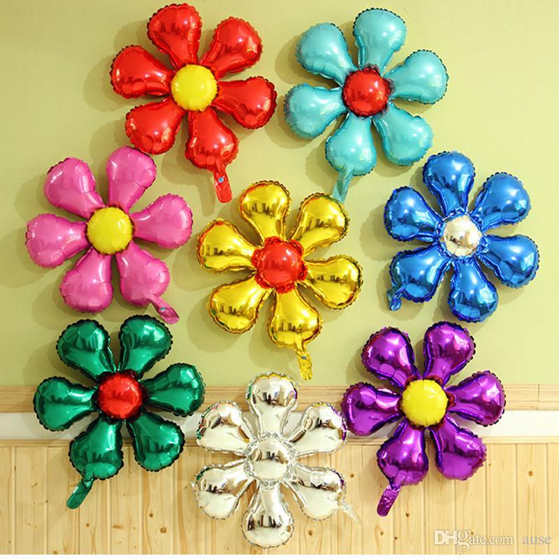 Цветок в форме алюминиевой фольги воздушные шары с Днем Рождения украшения свадьбы цветок гелий воздушный шар дети классические игрушки