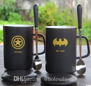 숟가락 세라믹 컵 크리 에이 티브 머그잔 컵 머그잔과 물 한 잔 마시는 귀여운 맞춤 된 몇 커피 잔